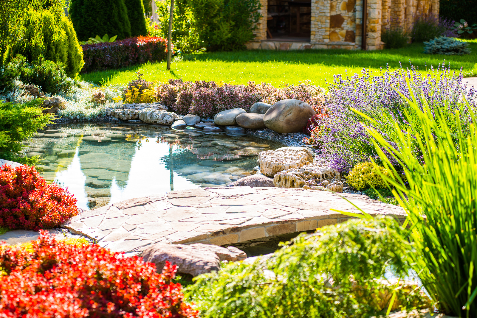 bigstock-Beautiful-Landscaping-With-Bea-170970950